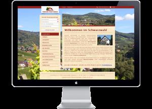 Referenz Webseite Pension Stadt Baden