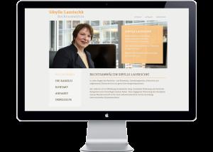 Referenz Webseite Rechtsanwältin Sibylle Laurischk