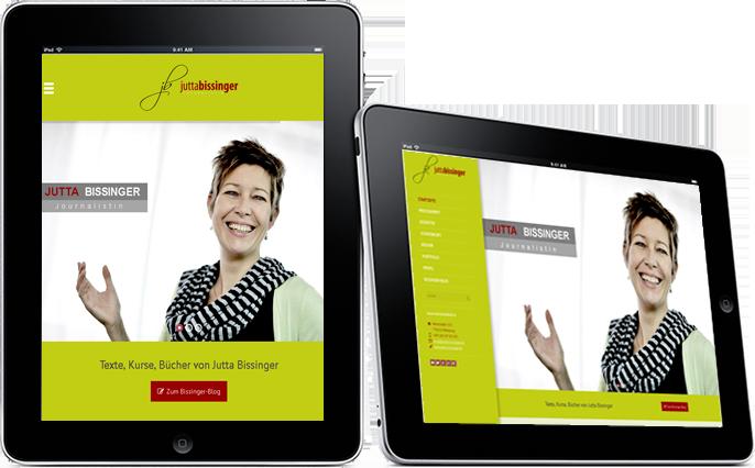 Jutta Bissinger - Webseite Referenz