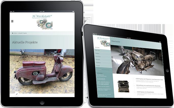 H-Werkstatt Kundenreferenz Webseite